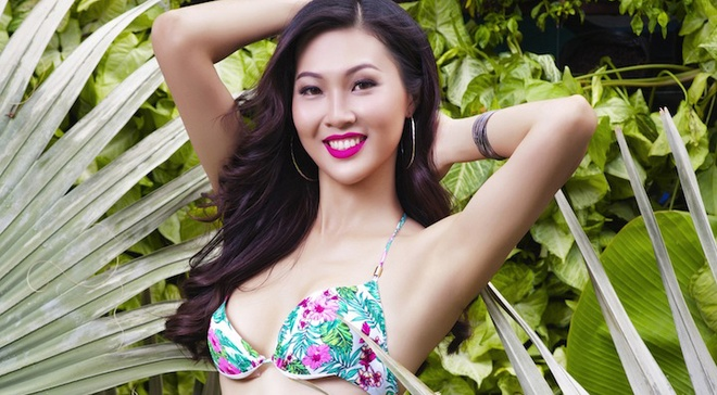 Top 17 Hoa khoi Ao dai khoe dang voi bikini hinh anh