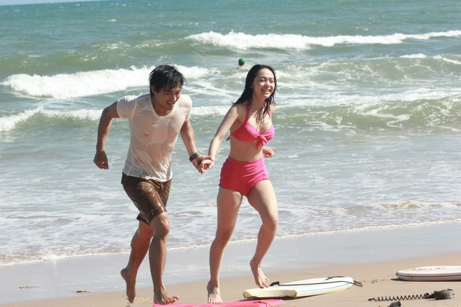 Minh Hang noi ve nghi van phim gia tinh that voi Quy Binh hinh anh 1