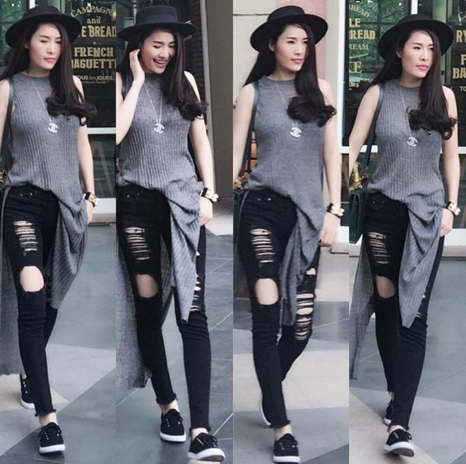 Street style cua sao Viet anh 12