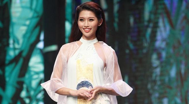 Nguoi mau Quynh Chau dan dau top 16 o Hoa khoi Ao dai hinh anh