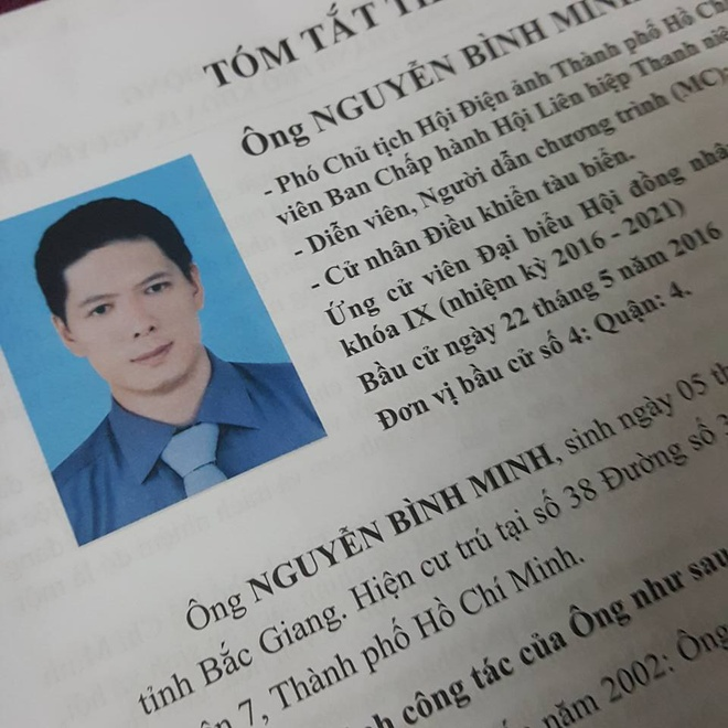 Dien vien Binh Minh ung cu dai bieu HDND TP HCM hinh anh 1