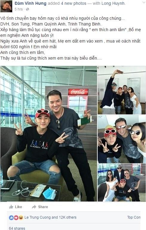 Dam Vinh Hung thich thu khi duoc Son Tung me hinh anh 1