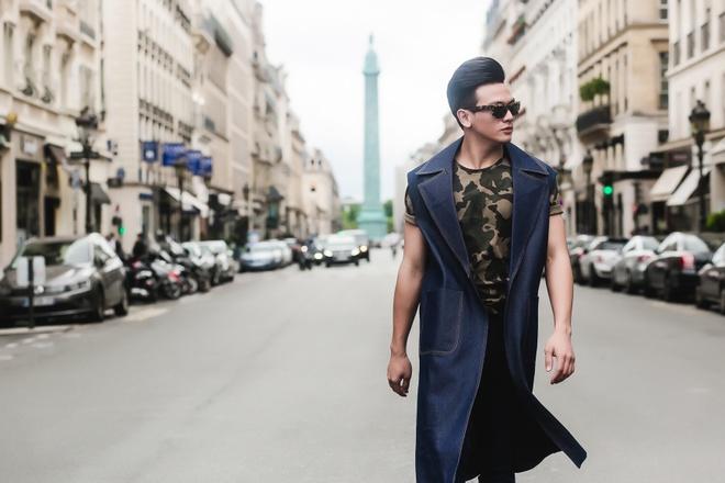 'Chang tho' cua Do Manh Cuong sanh dieu tren pho Paris hinh anh 8