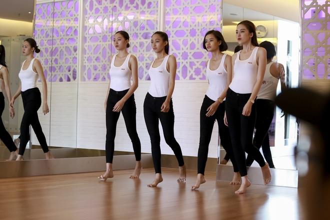 Pham Huong dien bra-top huong dan thi sinh The Face hinh anh 11