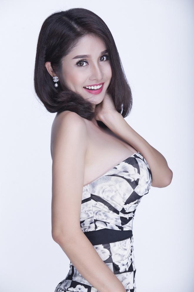 Thao Trang dien dam cup nguc quyen ru hinh anh 5