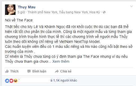 Quan quan Next Top chon doi Lan Khue neu tham gia The Face hinh anh 1