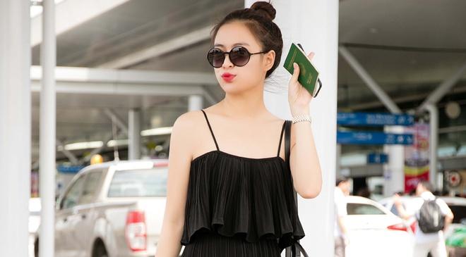 Hoang Thuy Linh dien ao hai day ra san bay hinh anh