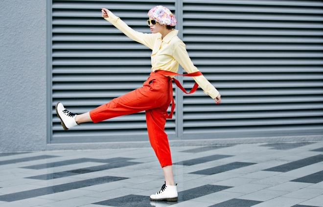 Kim Nha dien street style an tuong anh 1