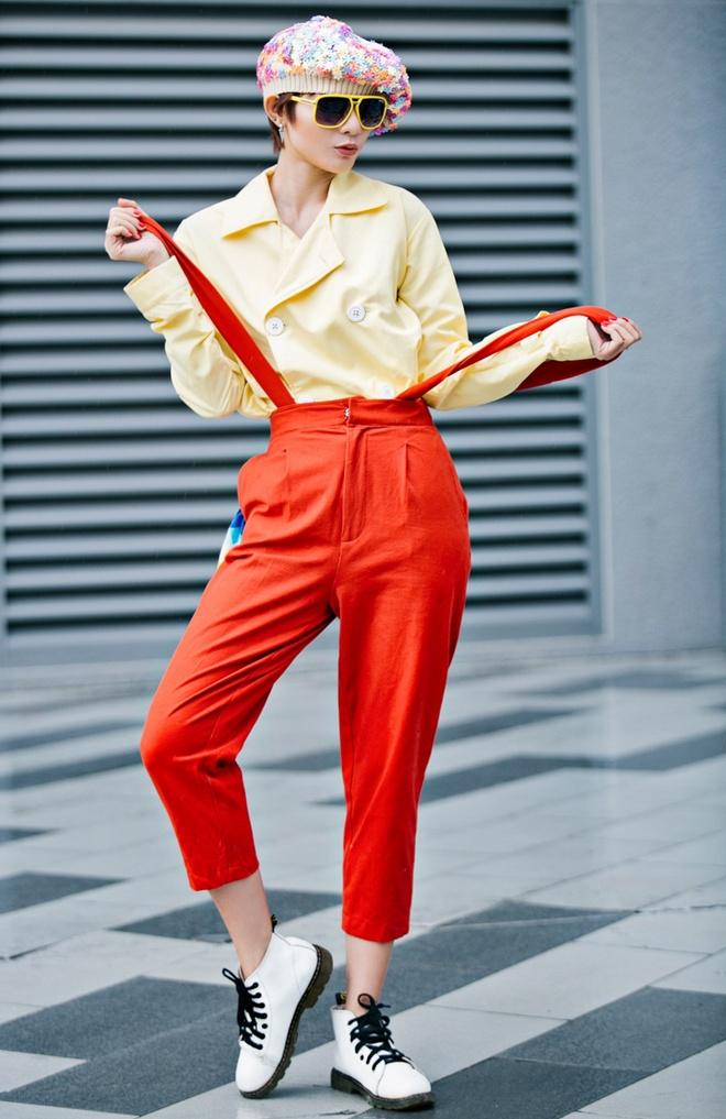 Kim Nha dien street style an tuong anh 2