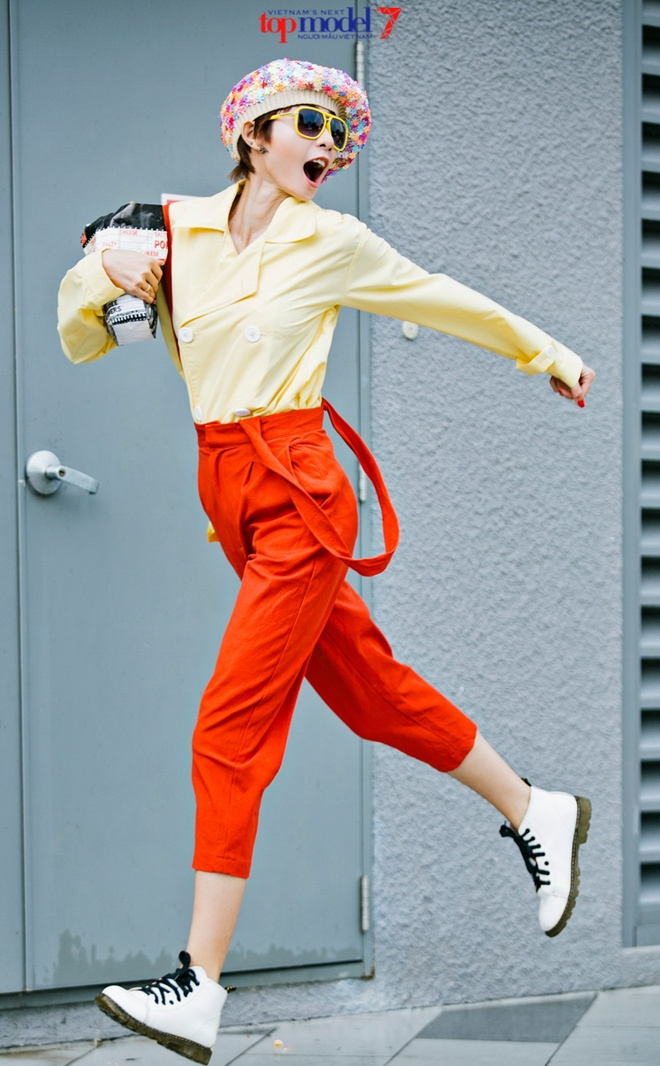 Kim Nha dien street style an tuong anh 3