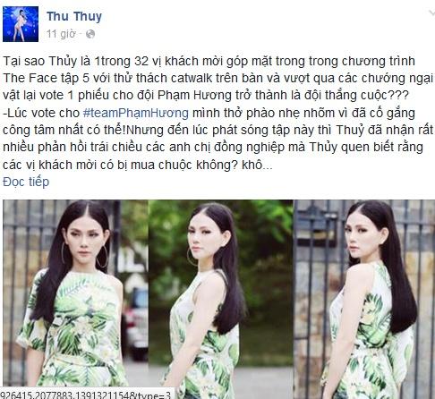 Thu Thuy len tieng benh vuc chien thang cua Pham Huong hinh anh 1