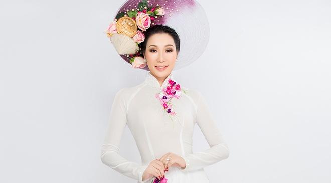 A hau Kim Chi dien 5 thiet ke cho le Vu lan hinh anh