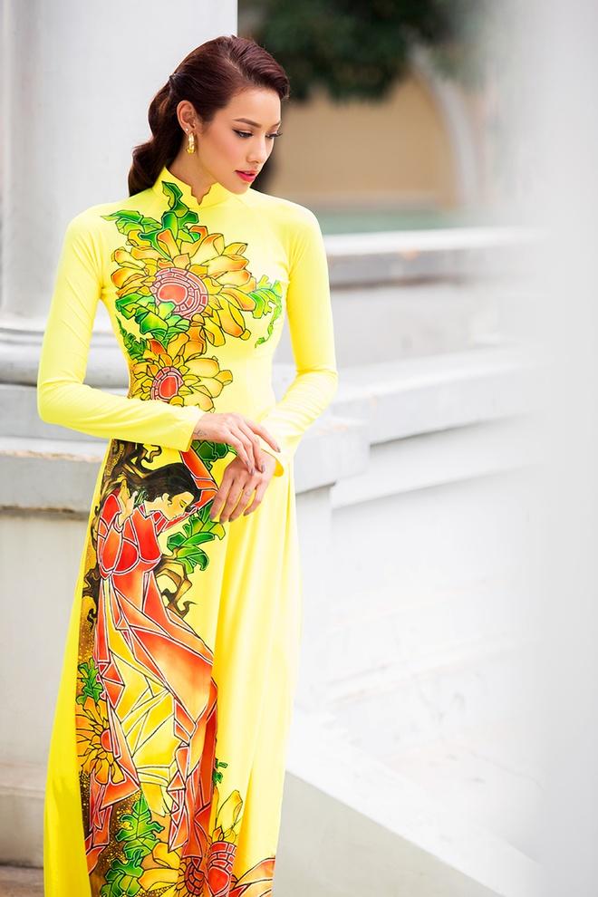 Lilly Nguyen duyen dang voi ao dai sac mau hinh anh 2