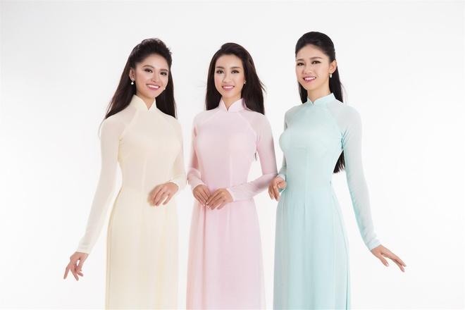 Top 3 Hoa hau Viet Nam 2016 duyen dang ao dai pastel hinh anh 1