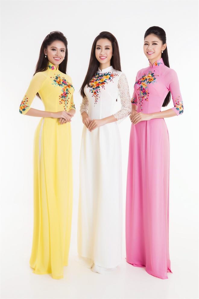 Top 3 Hoa hau Viet Nam 2016 duyen dang ao dai pastel hinh anh 5