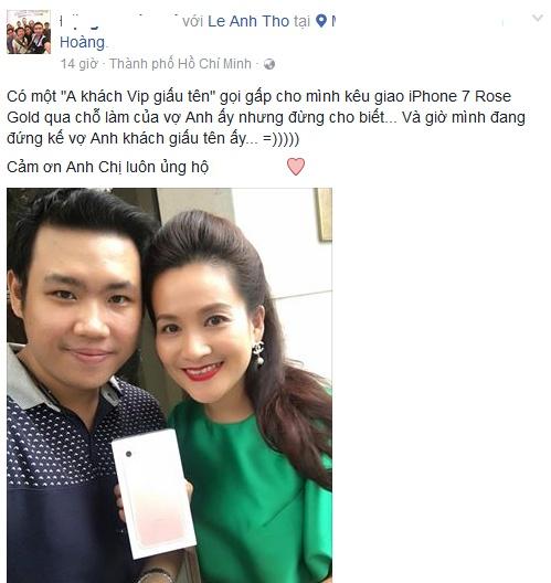 A hau Huyen My, vo Binh Minh khoe iPhone 7 moi tau hinh anh 2