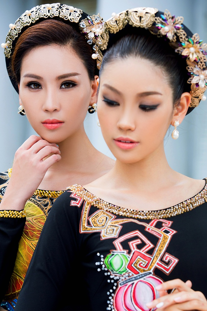 Ban gai Truong Nam Thanh lam mau ao dai doi hinh anh 4