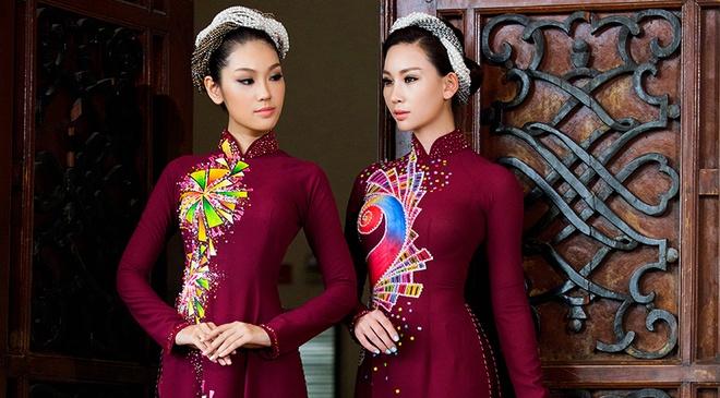 Ban gai Truong Nam Thanh lam mau ao dai doi hinh anh