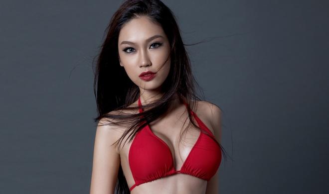 A khoi Phuong Linh cuon hut voi bikini hinh anh 4