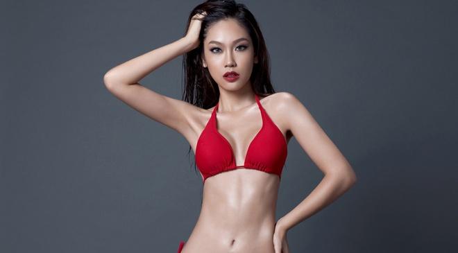 A khoi Phuong Linh cuon hut voi bikini hinh anh