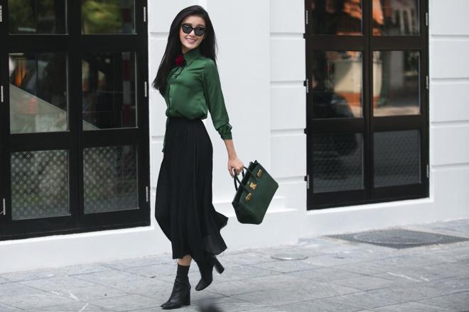 A hau Huyen My goi y street style don thu hinh anh 4
