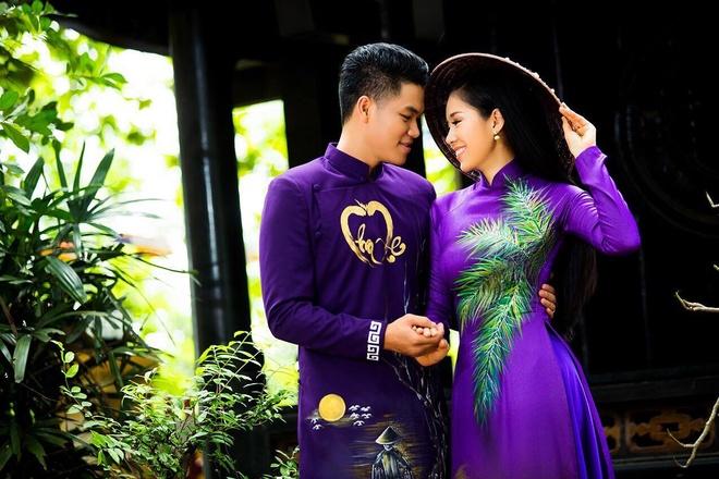 Le Phuong dien ao dai doi voi ban trai anh 1