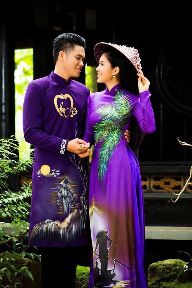 Le Phuong dien ao dai doi voi ban trai anh 2