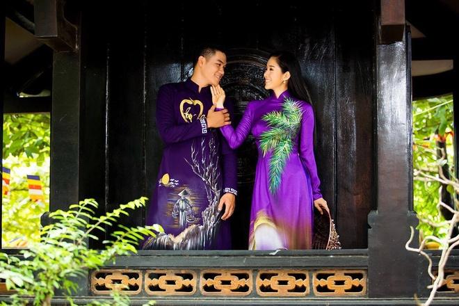 Le Phuong dien ao dai doi voi ban trai anh 3