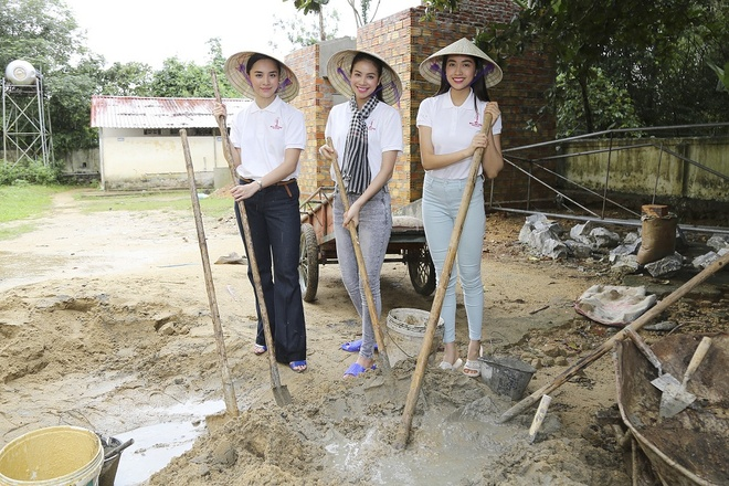 Pham Huong doi mua dua don ba con vung lu hinh anh 6