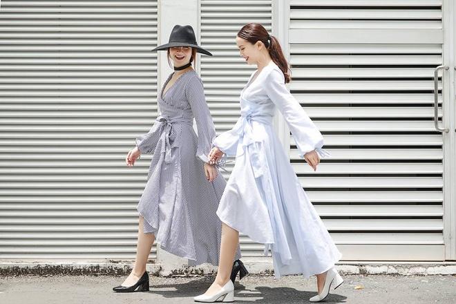 Song Yen goi y trang phuc doi cho chi em gai xuong pho hinh anh 2