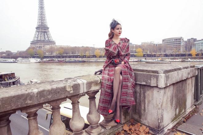 Nu hoang sac dep sanh dieu tren duong pho Paris hinh anh 1