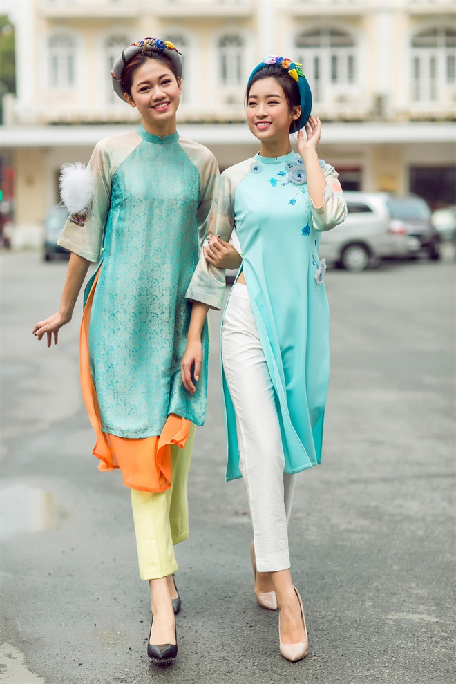 My Linh, Thanh Tu goi y ao dai ngay Tet hinh anh 4