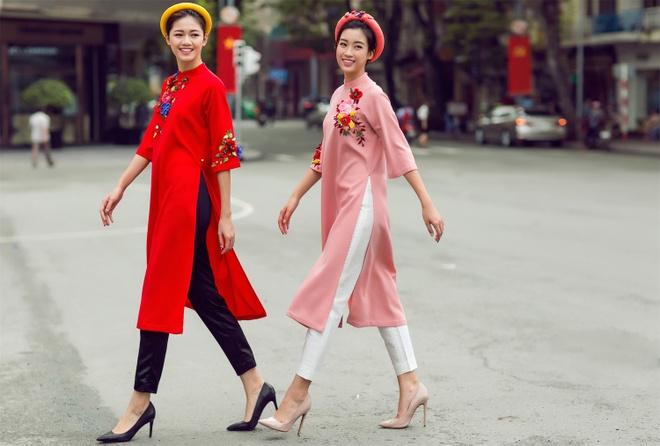 My Linh, Thanh Tu goi y ao dai ngay Tet hinh anh 5