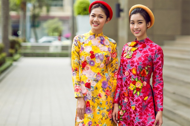 My Linh, Thanh Tu goi y ao dai ngay Tet hinh anh 7
