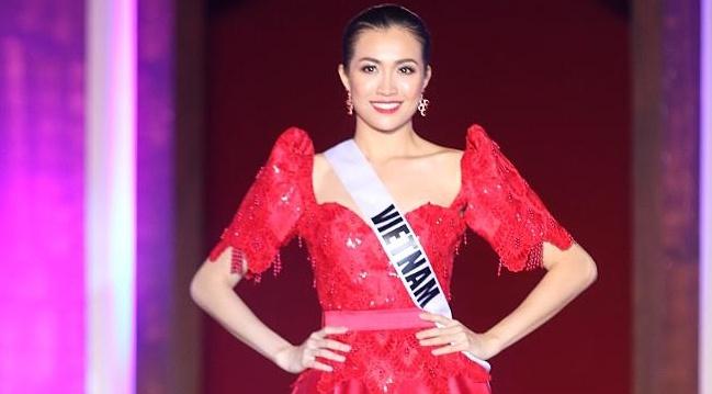 Le Hang vao top 5 Thi sinh duoc yeu thich o Miss Universe hinh anh