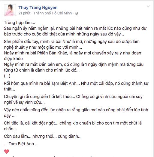 Trang Phap chia tay ban trai Duong Khac Linh anh 1