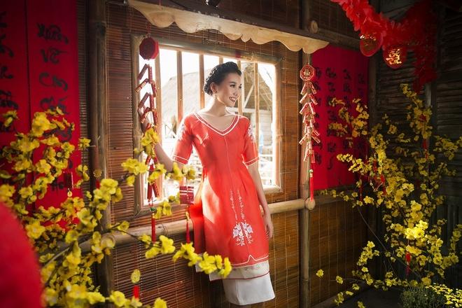 Thanh Hang goi y ao dai cach tan du xuan hinh anh 8
