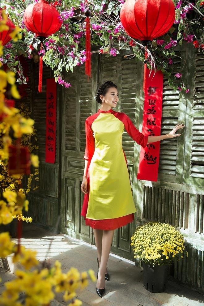 Thanh Hang goi y ao dai cach tan du xuan hinh anh 1