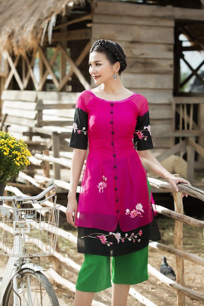 Thanh Hang goi y ao dai cach tan du xuan hinh anh 7