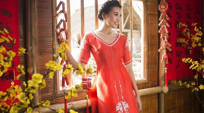 Thanh Hang goi y ao dai cach tan du xuan hinh anh