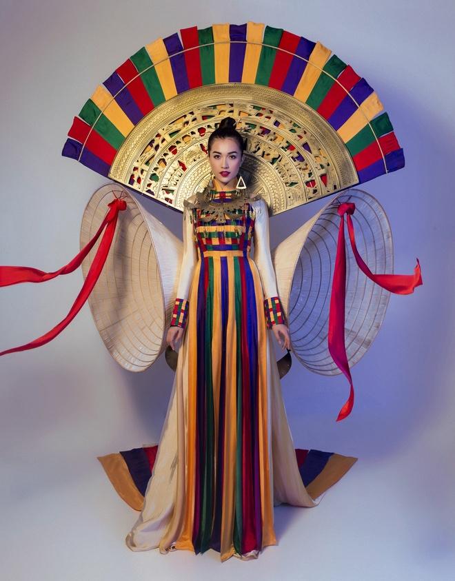 Trang phuc truyen thong la mat Le Hang mac o Miss Universe hinh anh 4