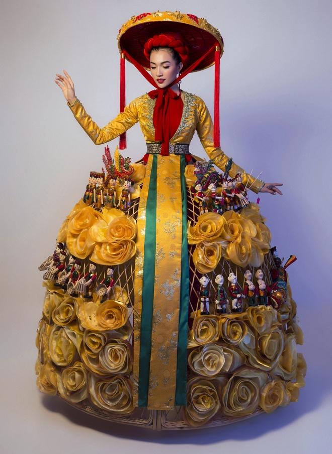 Trang phuc truyen thong la mat Le Hang mac o Miss Universe hinh anh 5