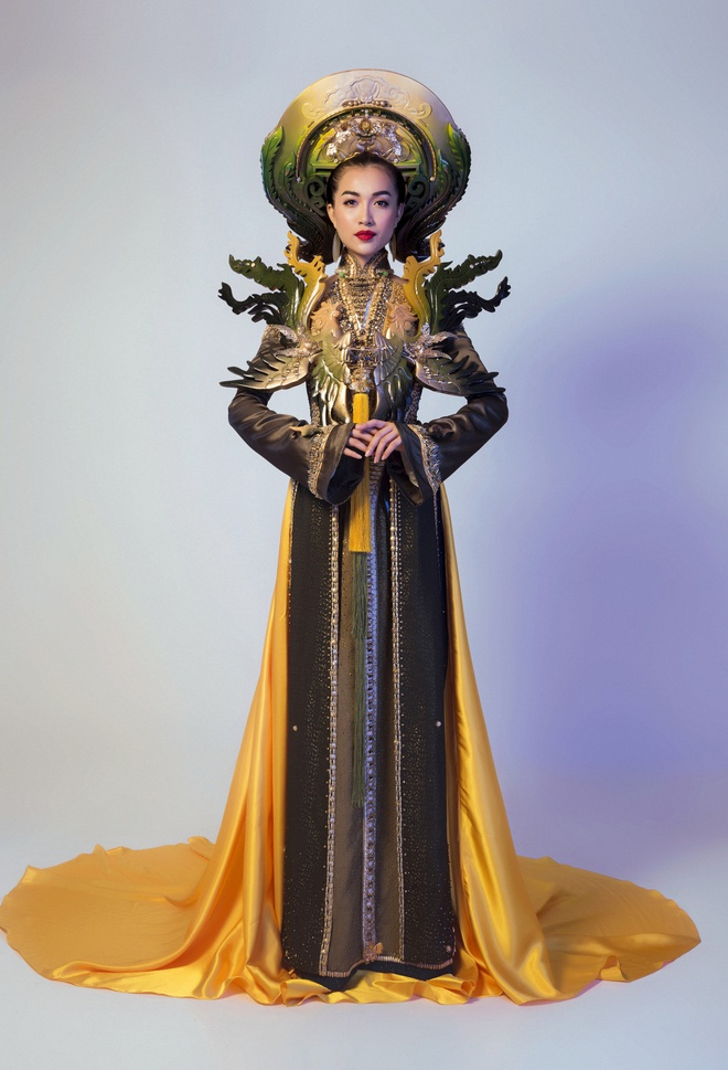 Trang phuc truyen thong la mat Le Hang mac o Miss Universe hinh anh 6