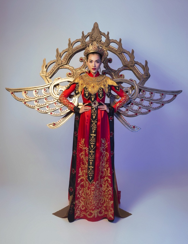 Trang phuc truyen thong la mat Le Hang mac o Miss Universe hinh anh 7