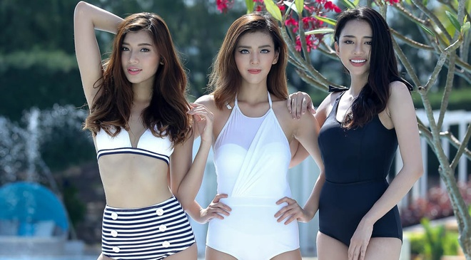 Top 10 The Face khoe dang voi bikini hinh anh