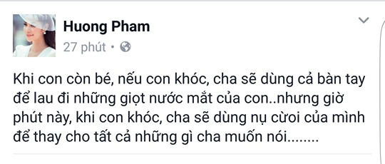 Pham Huong tam su buon ve benh cua cha, khoa Facebook hinh anh 1