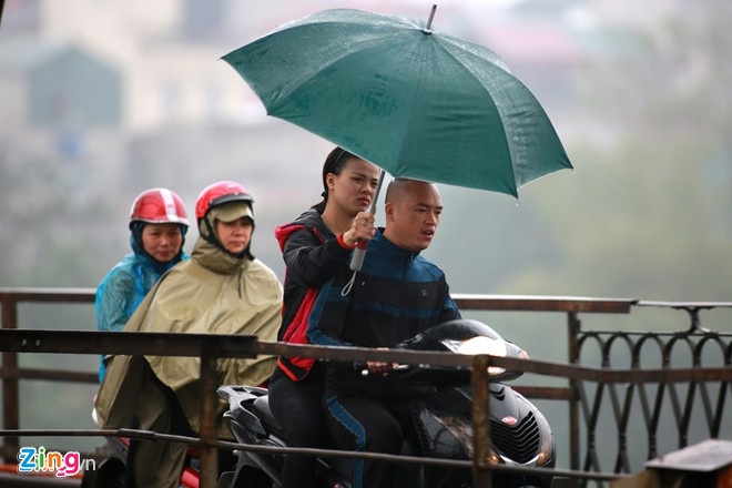 Hà Nội và các tỉnh Bắc Bộ trời tiếp tục mưa rét trong 3-4 ngày tới - Ảnh: Anh Tuấn