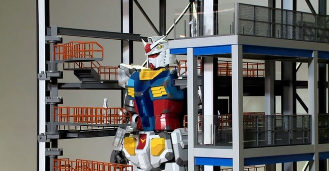 Nhat Ban che tao robot Gundam khong lo co the buoc di hinh anh 1 fdfffd.jpg
