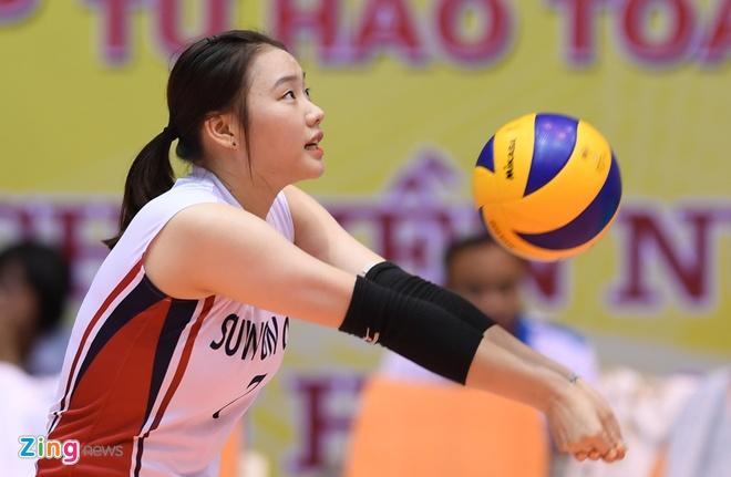 Chan dai bong chuyen Han Quoc xinh dep tai VTV Cup hinh anh 5