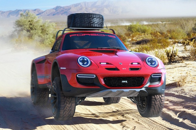 Porsche 911 Turbo bien thanh xe offroad hinh anh
